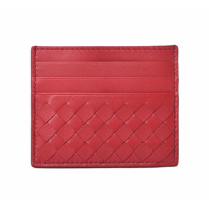 Bottega Veneta Card Case Business Holder BOTTEGA VENETA Intrechart Nappa Red 548510