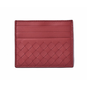 Bottega Veneta Card Case Business Holder BOTTEGA VENETA Intrechart Nappa Dark Red 548510