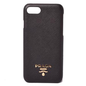 Prada iPhone 8 Case 7 PRADA SAFFIANO METAL Safiano Metal Black 1ZH035 Unused
