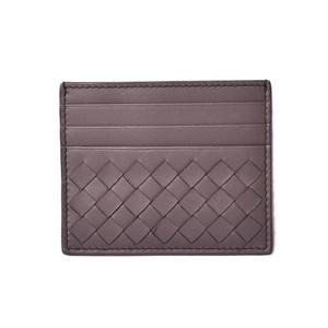 Bottega Veneta Card Case Business Holder BOTTEGA VENETA Intrecciato Nappa Brown Gray 548510