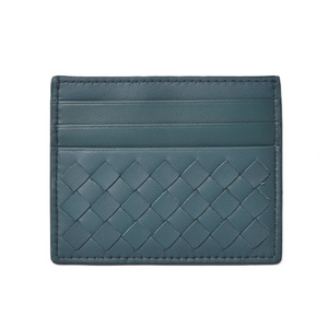 Bottega Veneta Card Case Business Holder BOTTEGA VENETA Intrecciato Nappa Petrol Blue 548510
