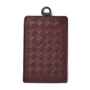 Bottega Veneta Card Case Pass BOTTEGA VENETA Intrecciato Nappa Bordeaux 415855