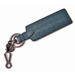 Bottega Veneta Key Ring Holder BOTTEGA VENETA Bag Charm Nappa Petrol Blue 545957