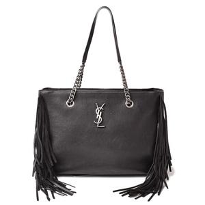 Saint Laurent Tote Bag Chain SAINT LAURENT Shopping Festival Fringe 410476