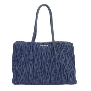 Miu MIUMIU Materasse handbag denim blue RR1933