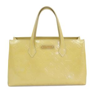 Louis Vuitton LOUIS VUITTON Vernis Wilsher PM Handbag Yellow M91642