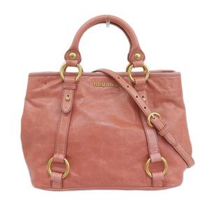 Miu MIUMIU Vitello 2WAY bag leather pink RN0685