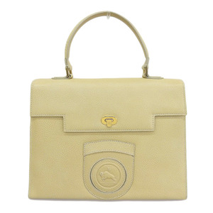 Fendi FENDI handbag leather beige gold hardware