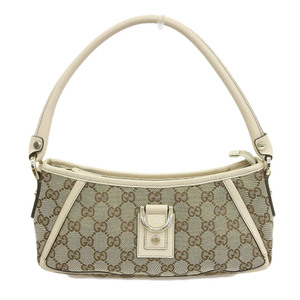 Gucci GUCCI GG canvas shoulder bag brown beige 130939