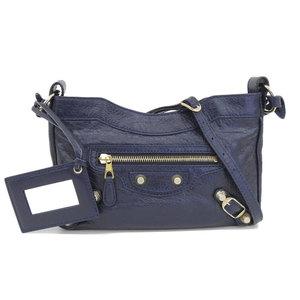 Balenciaga BALENCIAGA Giant Hip Shoulder Bag Leather Navy 237203