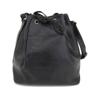 Louis Vuitton LOUIS VUITTON Epi Petit Noe Shoulder Bag Noir M59012