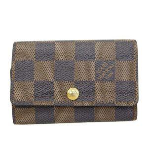 Louis Vuitton LOUIS VUITTON Damier Multicure 6 Key Case Ebenu N62630