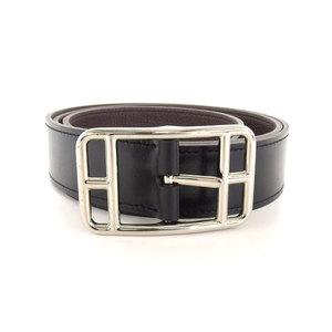 Hermes HERMES leather 2015 products Cape Cod belt 90 black T stamp 1.2 times use Margiela design bracket