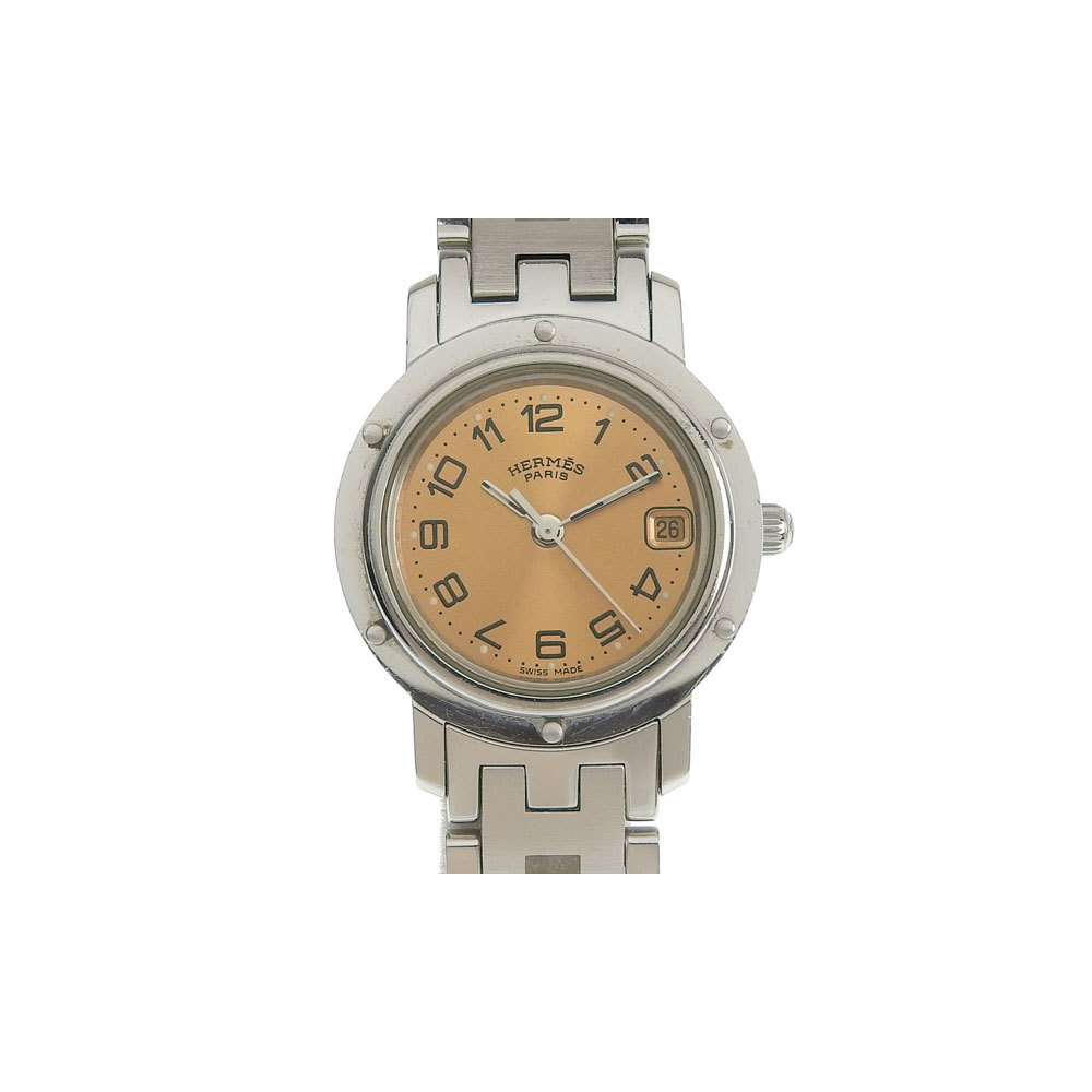 Genuine HERMES Hermes Clipper Ladies Quartz Watch CL4.210