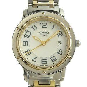 HERMES Clipper Classic Quartz Ladies Watch Shell Dial CP1.320