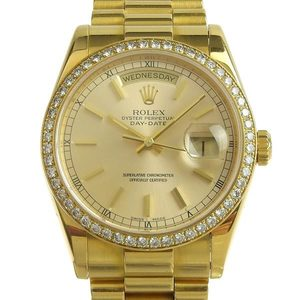 Genuine ROLEX Rolex Day-Date Men's Automatic Watch 118348 P Series