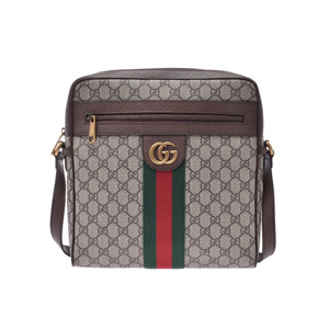 Gucci Ophidia GG Supreme Large Shoulder Bag Greige Ladies PVC / Leather Unused Good Condition GUCCI Used Ginzo