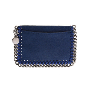 Stella McCartney Falabella Card Case Blue Ladies Men Polyester AB Rank STELLA McCARTNEY Box Used Ginzo