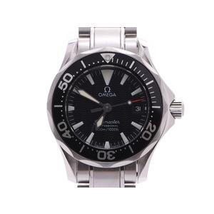 オメガ シーマスター 黒文字盤 2284.50 レディース SS クオーツ 腕時計 Aランク 美品 OMEGA 中古 銀蔵
