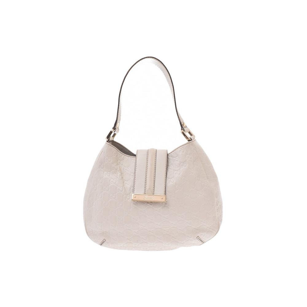 Gucci Guccissima One Shoulder Bag White Ladies Calf