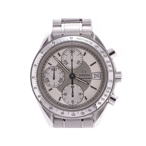 オメガ スピードマスター デイト シルバー文字盤 3513.30 メンズ SS 自動巻 腕時計 Aランク OMEGA ギャラ 中古 銀蔵