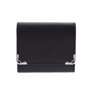 カルティエ(Cartier) カルティエ マストドゥカルティエ コインケース 黒 メンズ レディース レザー 新同 美品 CARTIER 箱 ギャラ 中古 銀蔵