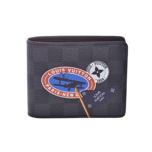 ルイ・ヴィトン(Louis Vuitton) ルイヴィトン グラフィット ポルトフォイユミュルティプル LVリーグ 黒 N64439 メンズ 本革 二ツ折札入れ 未使用 美品 LOUIS VUITTON 中古 銀蔵