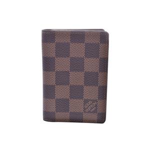 Louis Vuitton Damier Organizer Duposh Brown N61721 Old Men's Women's Vertical Business Card Holder Case B Rank LOUIS VUITTON Used Ginzo