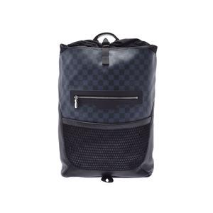 Louis Vuitton Damier Cobalt Match Point Backpack Black / Blue N40009 Men's Leather A Rank LOUIS VUITTON Used Ginzo
