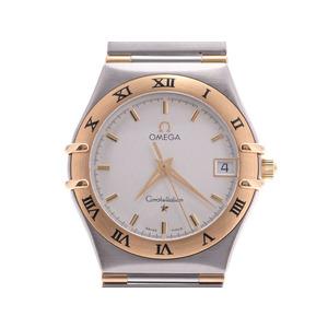 オメガ コンステレーション 白文字盤 メンズ レディース YG/SS クオーツ 腕時計 Aランク OMEGA 中古 銀蔵