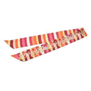 エルメス(Hermes) エルメス ツイリー パープル/黄/オレンジ レディース シルク100% スカーフ Aランク HERMES 箱 中古 銀蔵