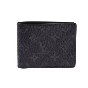ルイ・ヴィトン(Louis Vuitton) ルイヴィトン エクリプス ポルトフォイユ ミルティプル 黒 M61695 メンズ レディース 本革 財布 未使用 美品 LOUIS VUITTON 中古 銀蔵
