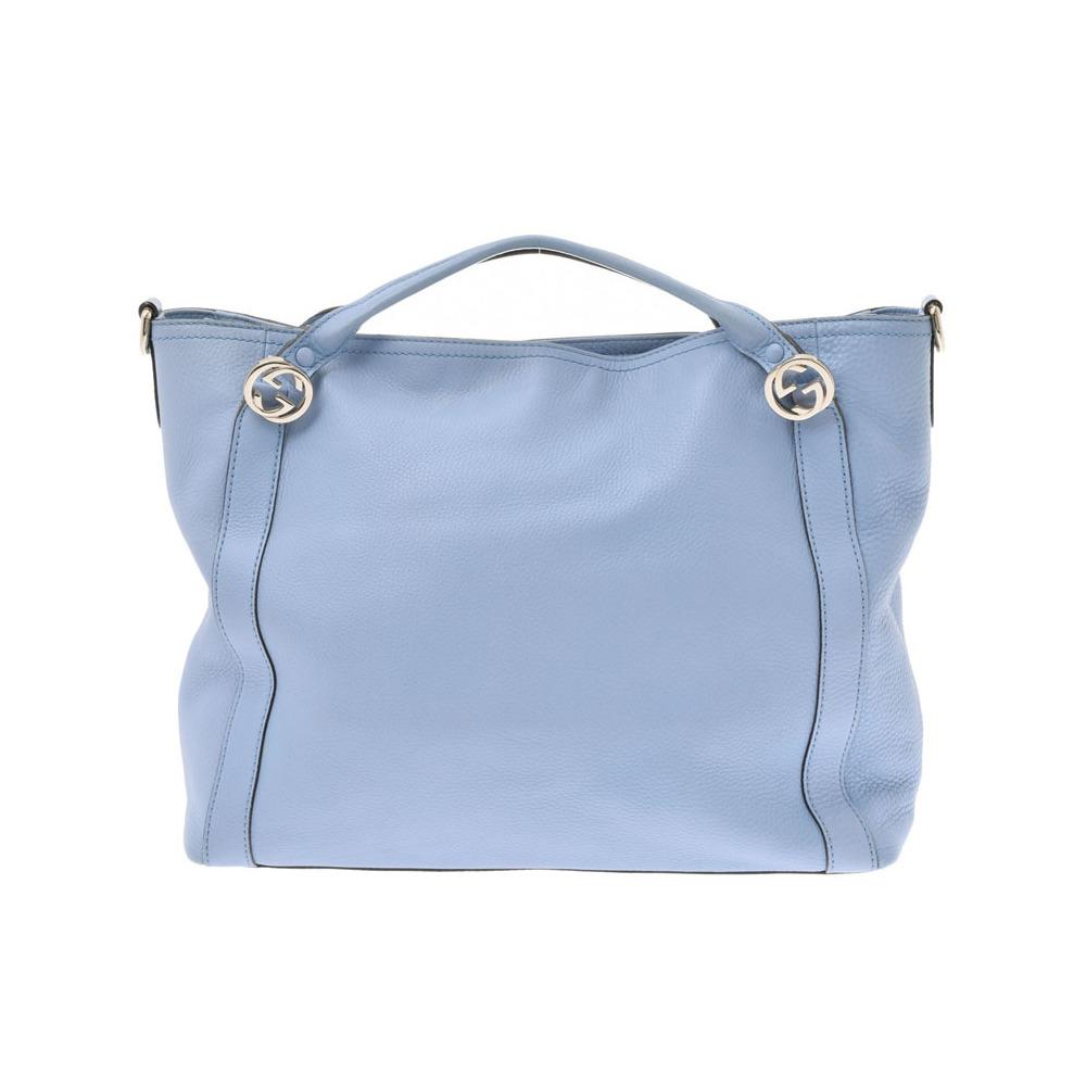 Gucci 2WAY bag light blue ladies calf