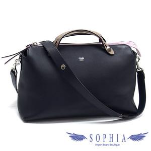 Fendi byway 2WAY bag dark navy x pink light brown 20190718