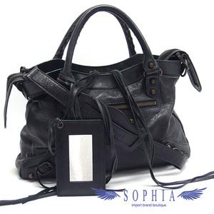Balenciaga The Town 2WAY Bag Black 20190719
