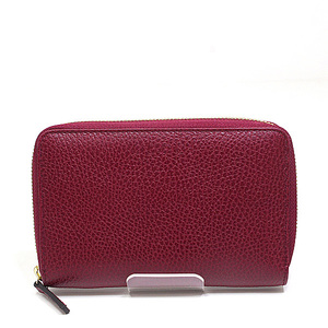 GUCCI outlet round zipper long wallet 420113 purple system as new