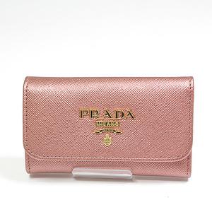 PRADA Prada SAFFIANO METAL 6 key case 1PG222 metallic pink unused goods