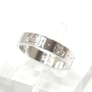 Gucci GUCCI Icon Ring K18WG Notation 11 (Exact 10.5) White Gold 750WG AU750 073230098509000 Finished