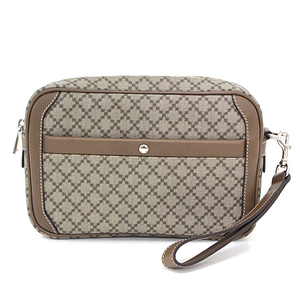 Gucci GUCCI Diamante Second Bag PVC Leather Light Brown Beige 297921 Clutch Unused