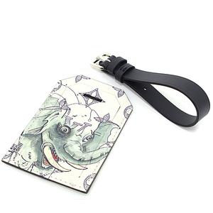 Louis Vuitton LOUIS VUITTON Chapman Collaboration Porto Address Monogram Savanna White Elephant M54139 Name Tag Unused