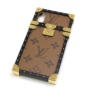 LOUIS VUITTON monogram reverse eye trunk iPhone X case M62619