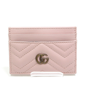 GUCCI Gucci GG Marmont card case 443127 pink unused goods