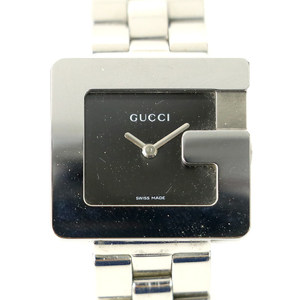グッチ GUCCI Gスクエア 3600L クオーツ ブラック 文字盤: 2針式 レディース 腕時計 【mo】【中古】