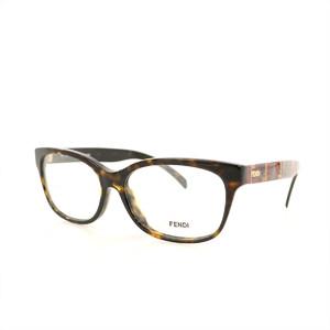 FENDI Glasses Slam Brown Tortoise Pattern Ladies Plastic