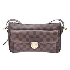 Louis Vuitton Damier Ravello GM Brown N60006 Women's Genuine Leather Shoulder Bag AB Rank LOUIS VUITTON