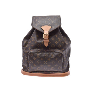 Louis Vuitton Monogram Montsuri GM Brown M51135 USA Ladies Genuine Leather Backpack B Rank LOUIS VUITTON Used Ginzo