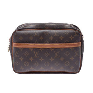 Louis Vuitton Monogram Reporter S Brown M45254 Men Women Genuine Leather Shoulder Bag B Rank LOUIS VUITTON Used Ginzo
