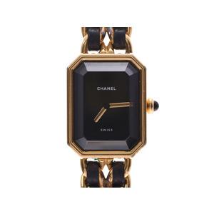 Chanel Premiere M Size Black Dial H0001 Ladies GP / Leather Quartz Wrist Watch AB Rank CHANEL Used Ginzo