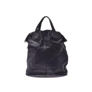 Givenchy Nightingale Black Ladies' Men's Leather 2WAY Handbag B Rank GIVENCHY With Strap Used Ginzo