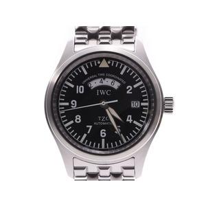 IWC Freeger UTC Black Dial IW325102 Men's SS Automatic Wrist Watch A Rank Good Condition Used Ginzo